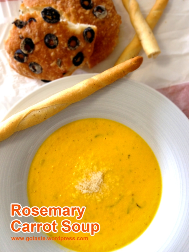 rosemary carrot soup