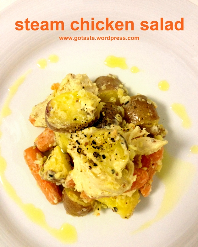 steam chicken salad 1